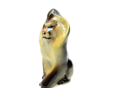 Baboon or Mandrill Porcelain Sculpture