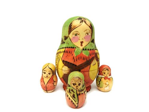 Balalaika Maiden Family Counting Dolls