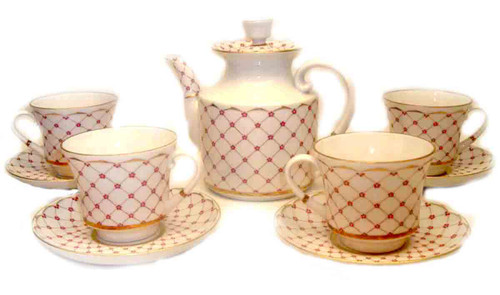 Personal Teacups with Teapot