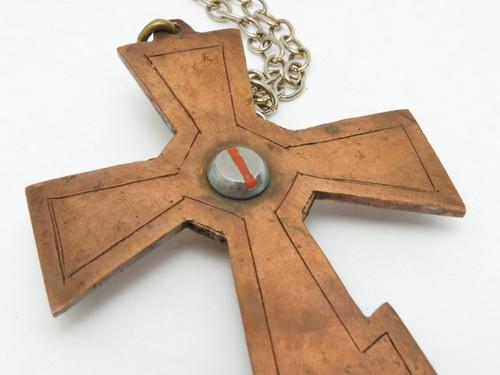 Back of Primitive POW Camp Orthodox Priest's Cross