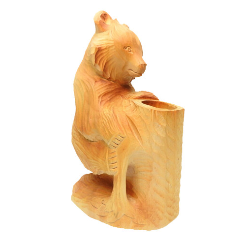 Bear Climbing a Tree Stump Bogorodsk Carving