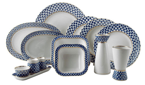 Cobalt Net Dinner Set (Deluxe 31 pieces)