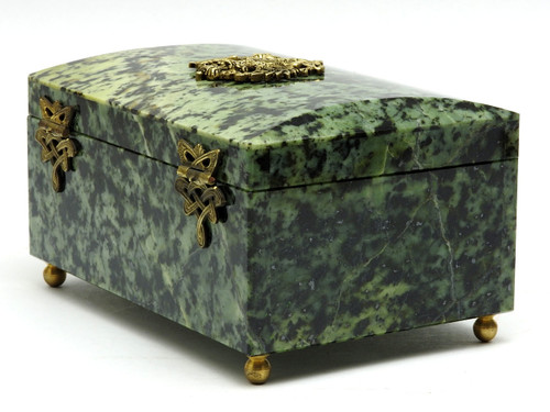 Russian Marble Jewelry Box  Russian Double Eagle Coat-of-Arms
