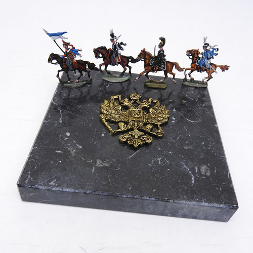War of 1812 Russian Army Painted Tin Soldiers on Parade