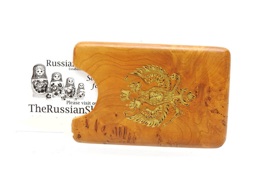 Karelian Birch Card Holder