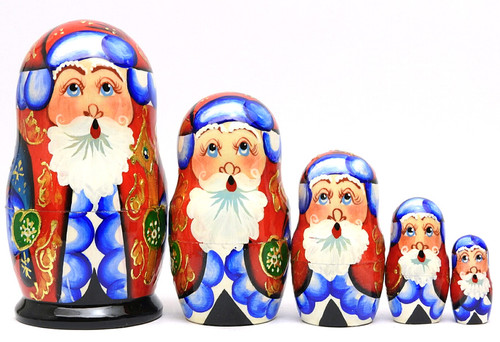"Grandfather Frost ""Potal"" Matryoshka Doll"