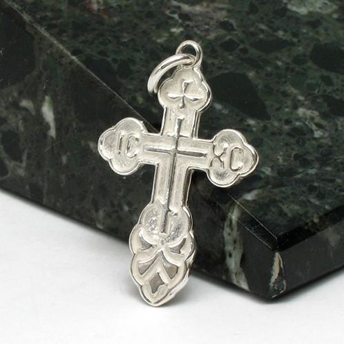 St. Olga Sterling Silver Orthodox Cross