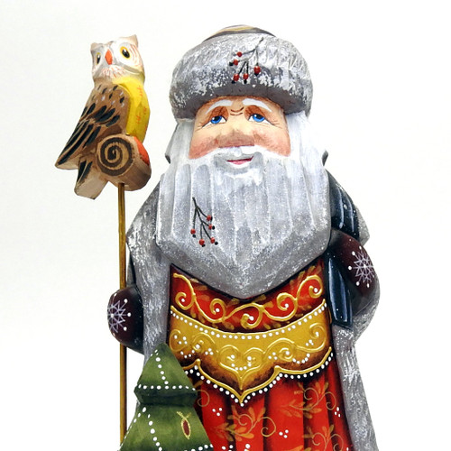 Grandfather Frost with Owl Staff