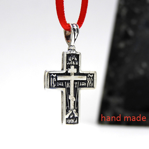 Orthodox Sterling Soldier's Cross Patina