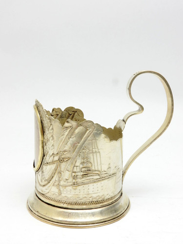 """Battleships"" Tea Glass Holder"
