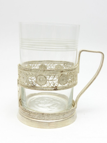"Vintage Filigree Tea Glass Holder ""Gorky"" City Series"