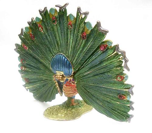 Fan Tail Peacock Jewelry Box
