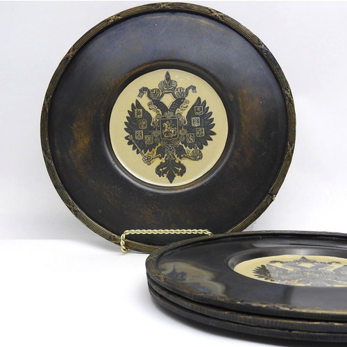Imperial Russian Eagle Decorative Charger Plates