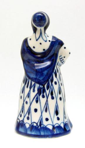 Elegant Lady Gzhel Figure
