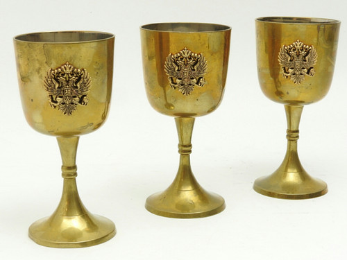 Wine Goblets with Russian Double Headed Eagle  - IRAA