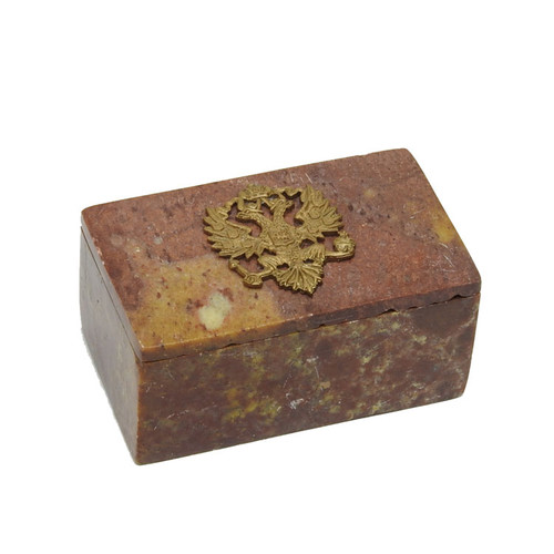 Small Keepsake Box Imperial Russian Eagle Red