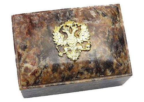Small Keepsake Box Imperial Russian Eagle Dome Lid