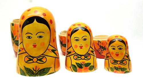 """""""Metrushchka"""" Semenov-style Dolls from India"""