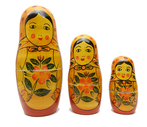 """Metrushchka"" Semenov-style Doll from India"