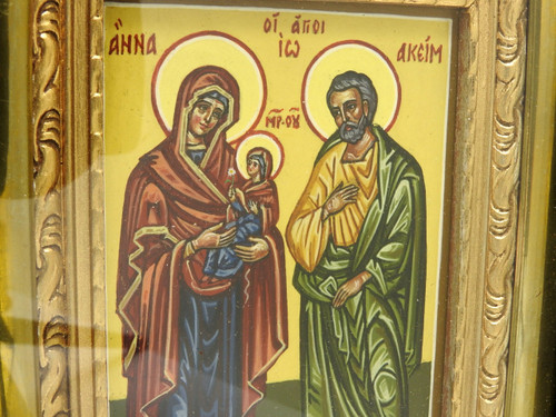 Icon Mounted Behind Glass