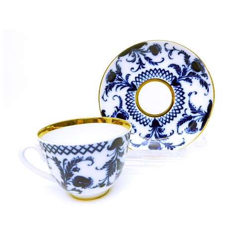 Winter Teacup and Saucer [USSR]