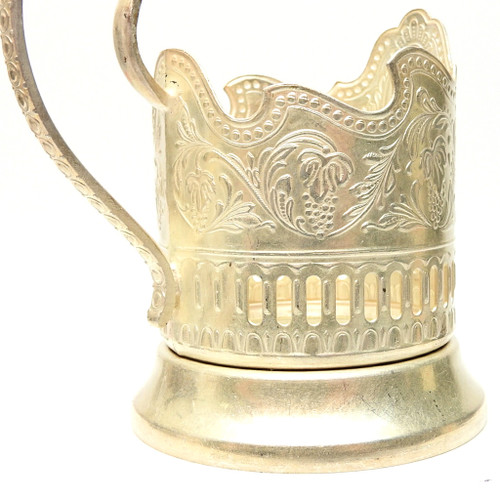 "Vintage Tea Glass Holder ""Cosmos"""