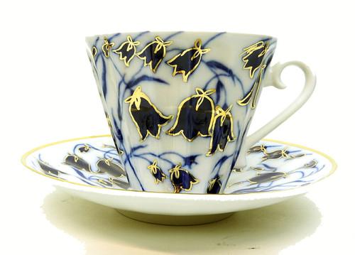 Blue Bells Teacup and Saucer [USSR]