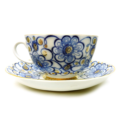 Winding Twig Teacup and Saucer [USSR]