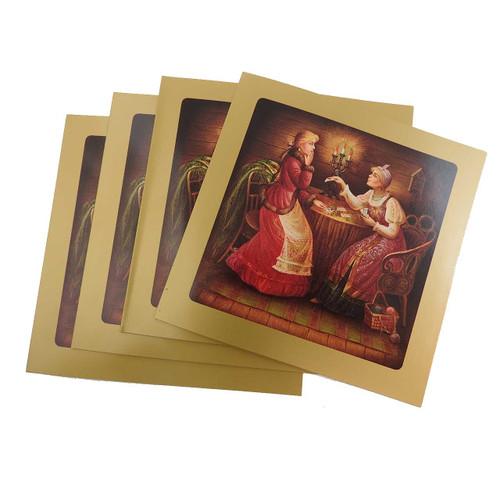 Russian Lacquer Note Card Invitations
