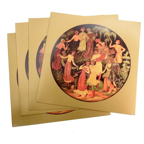20ct Invitation Cards Dancers Russian Lacquer Art