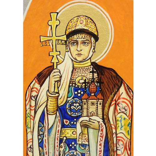 St Olga Equal to the Apostles, by Vasnetsov (detail)