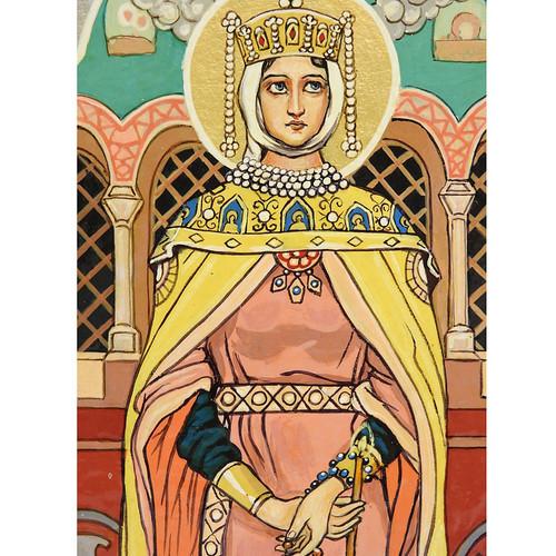 St. Evdokia, by Vasnetsov (detail)