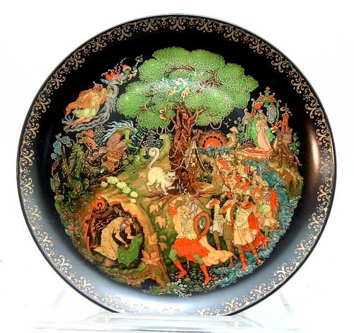 Lukomorye 4th plate in the RUSSIAN LEGENDS 1988 series