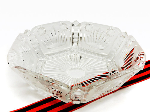 Russian Crystal Candy Dish Large