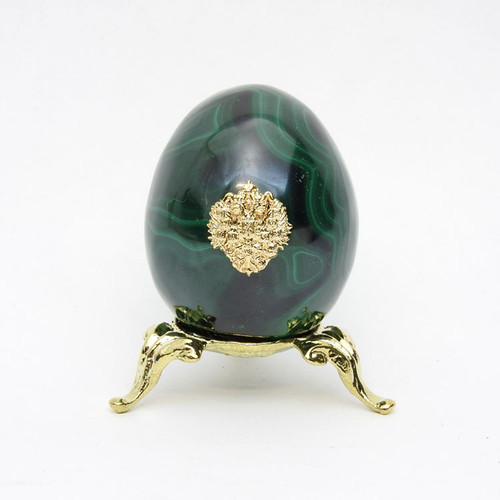 Imperial Russian  Eagle Malachite Egg MC1