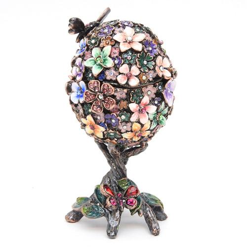 Victorian  Art Nouveau Kaleidoscopic Egg