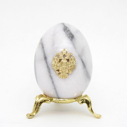 Marble Imperial Russian Eagle Egg M3