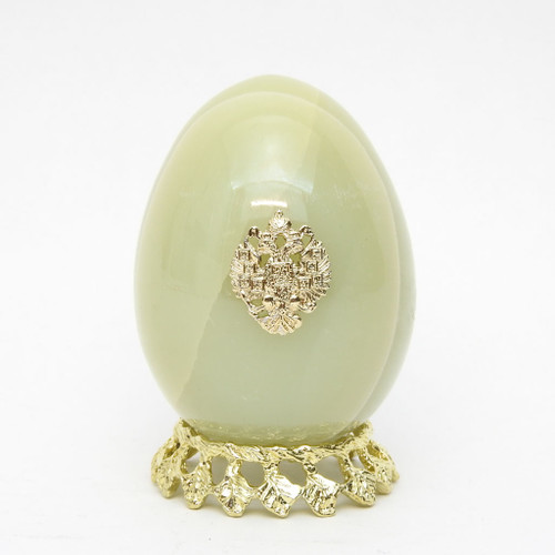 Onyx Imperial Russian Eagle Egg 585