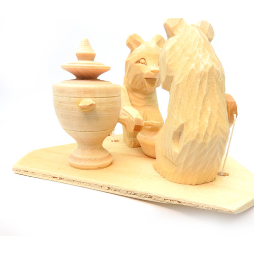 Bears Around the Samovar Bogorodsk Toy