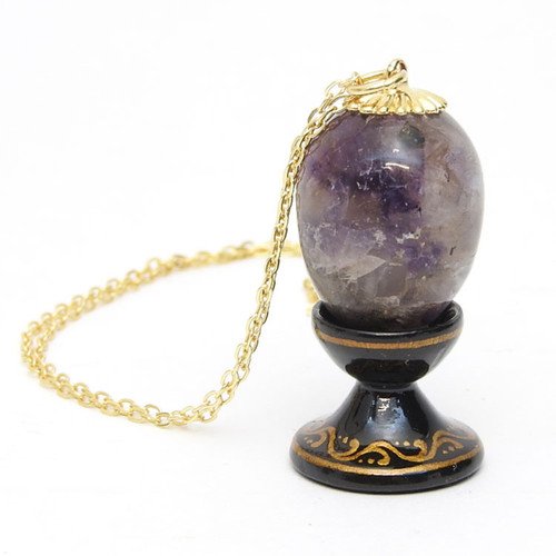 Purple Quartz Egg Pendant