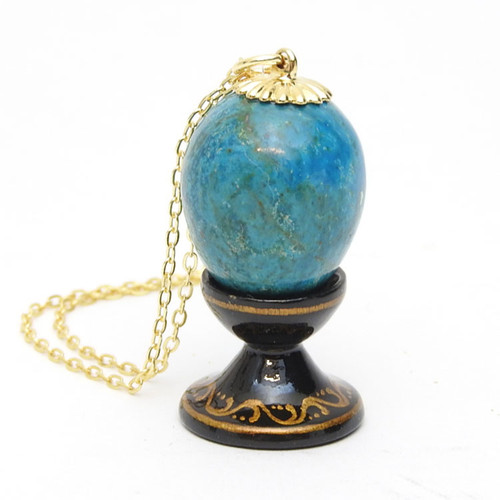 Turquoise Egg Pendant