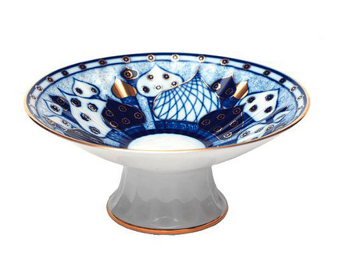 Golden Domes Pedestal Dish