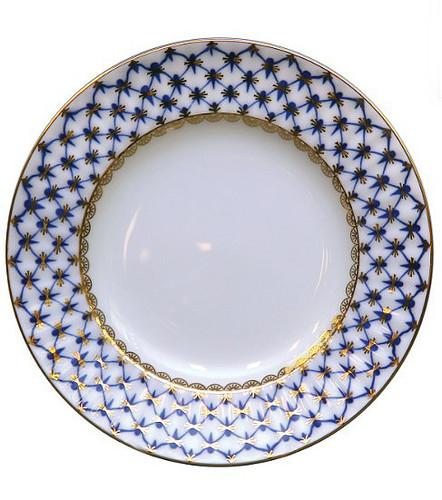 Cobalt Net European Dinner Plate