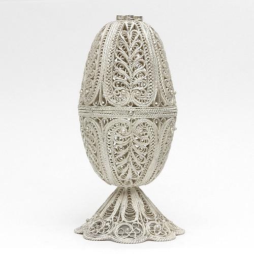 Russian Filigree Egg Box