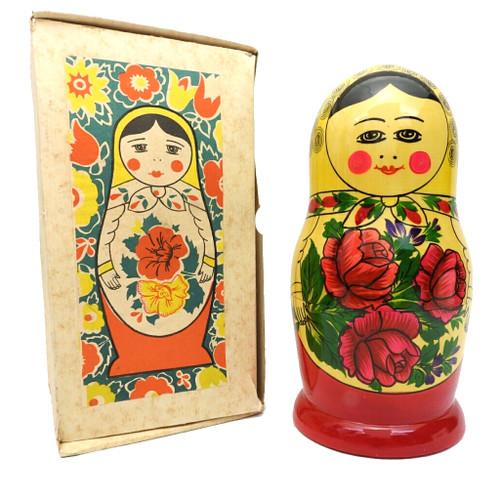 Vintage 9pc Semenov Matryoshka  with box