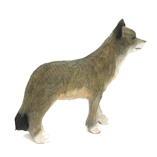 Gray Wolf Carving
