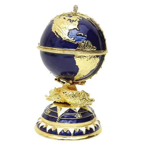 Seven Seas Sailing Ship Faberge Globe