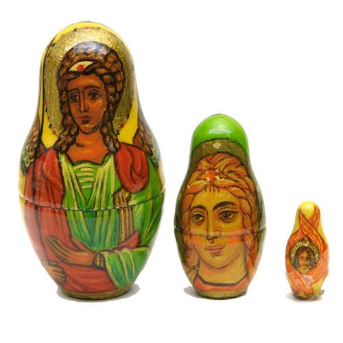 Russian Orthodox Icons (Русские православные иконы) Matryoshka with Last Three Dolls
