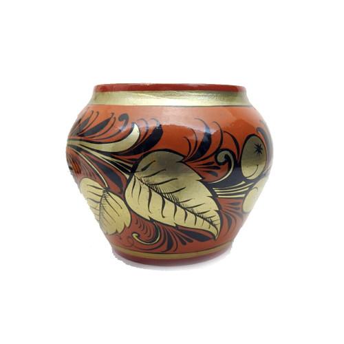Khokhloma Bud Vase mid-20th century