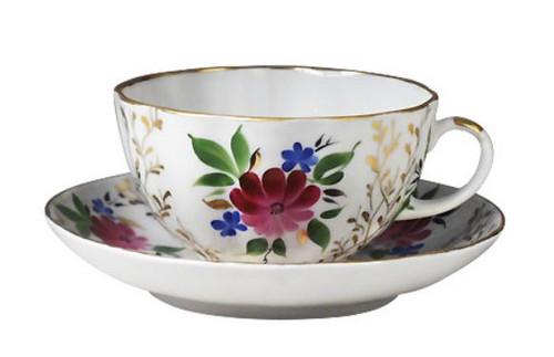 Golden Grass Tea Cup and Saucer